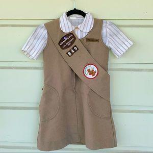 Vintage 80's SF Brownies Girl Scout Uniform